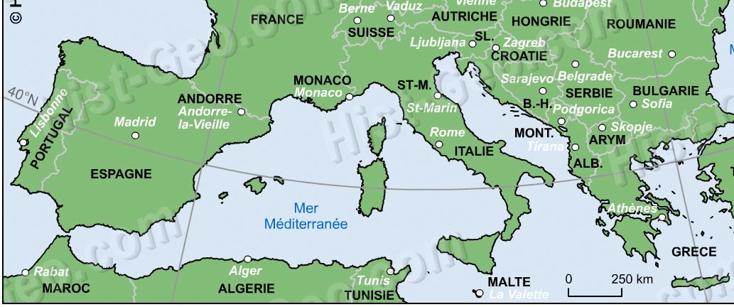 italie-espagne-carte