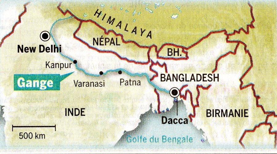 Carte De Linde Avec Le Gange.Gange Inde Carte Stopeads